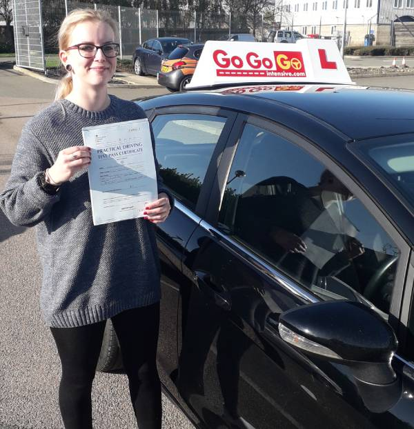 Evie Price after passing her practical test