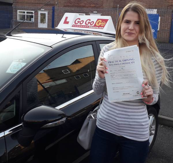 Gemma Kirk after passing her practical test